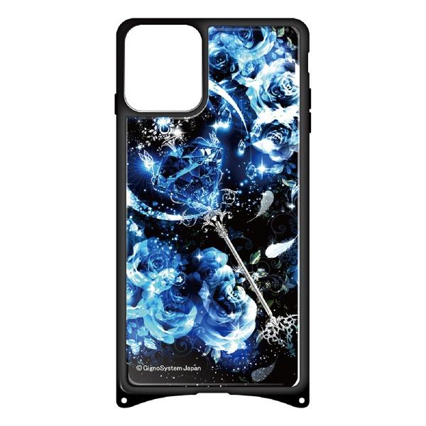 藤家FujiyaiPhone11幻想デザインガラスハイブリッドP.サファイアスティックghp7053-bk-p-ip11