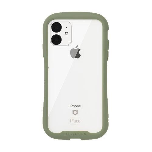 HAMEEハミィ[iPhone11専用]iFaceReflection強化ガラスクリアケースiFaceカーキ41-907559