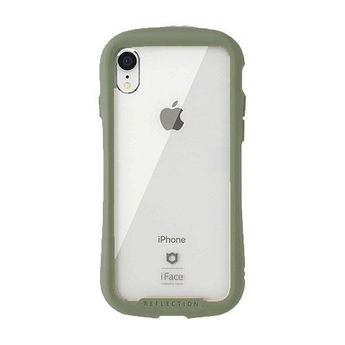 HAMEEハミィ[iPhoneXR専用]iFaceReflection強化ガラスクリアケースiFaceカーキ41-907535