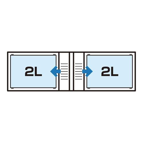 ChululuチュルルChululuポケットアルバムSTOFF(ストフ)2L(カビネ)サイズ40枚収納リーフChululuリーフACHL-STF2L40LF