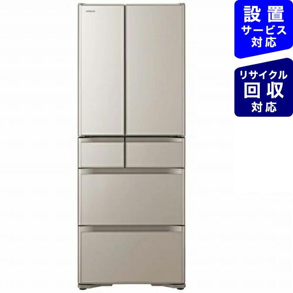 日立HITACHIR-X48N-XN冷蔵庫クリスタルシャンパン[6ドア/観音開きタイプ/475L][冷蔵庫大型]《基本設置料金セット》