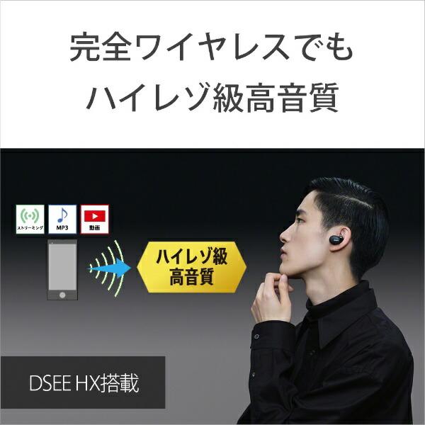 ソニーSONYフルワイヤレスイヤホンブラックWF-H800BM[リモコン・マイク対応/ワイヤレス(左右分離)/Bluetooth]