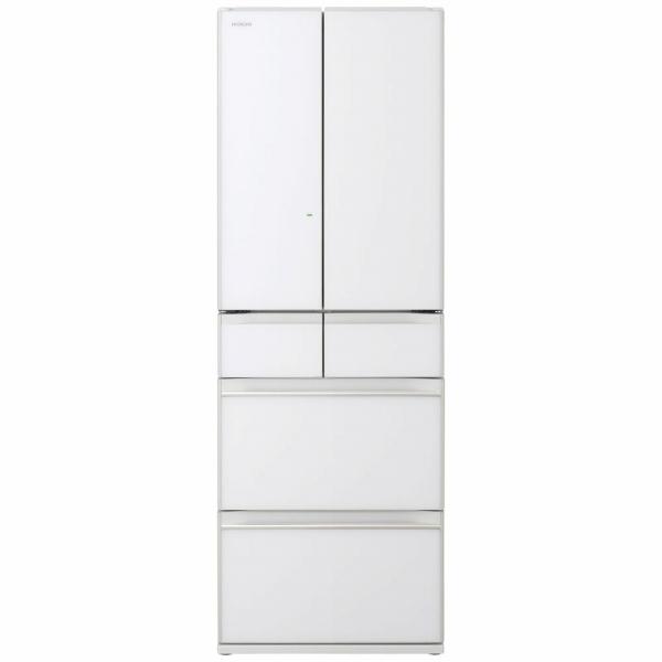 日立HITACHIR-HW52N-XW冷蔵庫HWタイプクリスタルホワイト[6ドア/観音開きタイプ/520L][冷蔵庫大型]《基本設置料金セット》