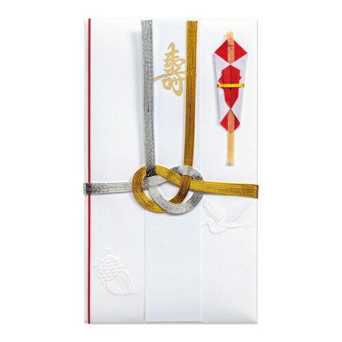 マルアイMARUAI祝中柾金銀7本結切赤のし短冊4枚入キ-18