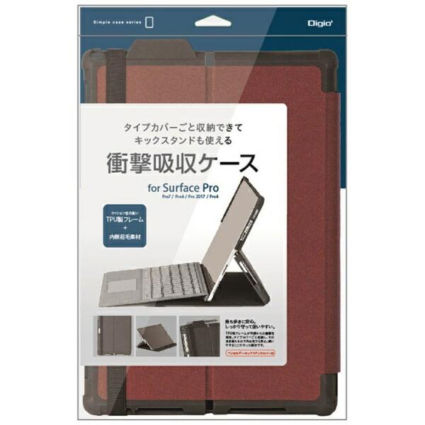 ナカバヤシNakabayashiSurfacePro7/Pro6/Pro2017/Pro4用衝撃吸収ケースレッドTBC-SFP1904R