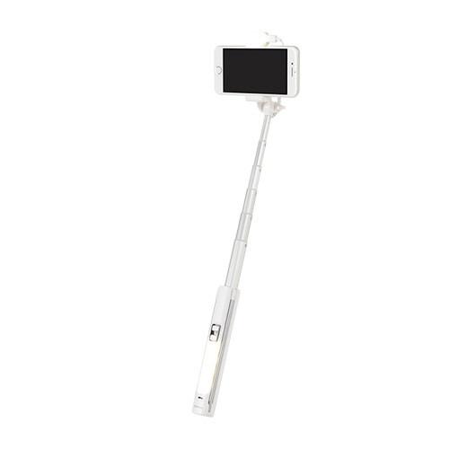 HAMEEハミィBluetooth3.0wirelessSelfieStickwithLightライト付ワイヤレス自撮り棒ホワイト276-906217