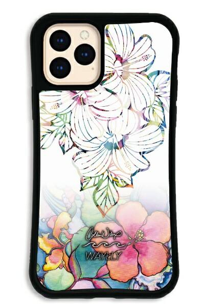 ケースオクロックcaseoclockiPhone11ProWAYLLY-MK×ColleenMaliaWilcoxセットドレッサーホワイトハイビスカスWAYLLYmkcln-set-pro-whb