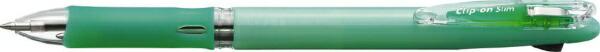 ゼブラZEBRAクリップ-オンスリム2CパステルGB2A5-WG