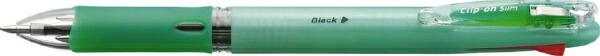 ゼブラZEBRAクリップ-オンスリム4CパステルGB4A5-WG