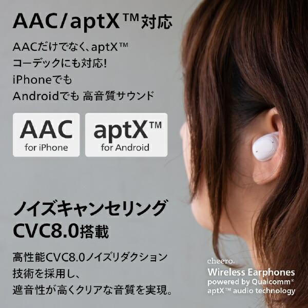CHEEROチーロフルワイヤレスイヤホンホワイトCHE-625-WH[マイク対応/ワイヤレス(左右分離)/Bluetooth]