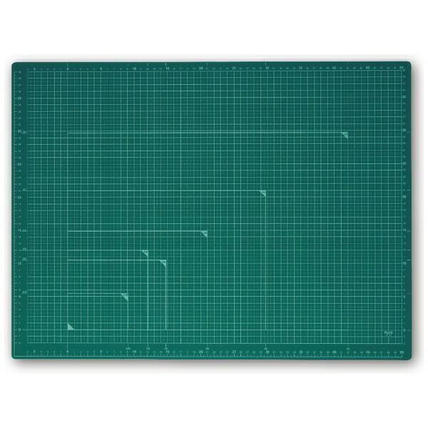 プラスPLUSカッティングマットカラータイプ両面使用[600x450x2.0mm]グリーンCS-A2