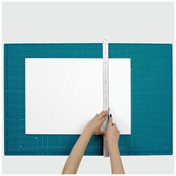 プラスPLUSカッティングマットカラータイプ両面使用[900x600x2.5mm]グリーンCS-A1