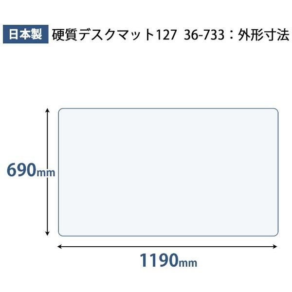 プラスPLUSプラスマット硬質マット127下敷LGDM-127PW