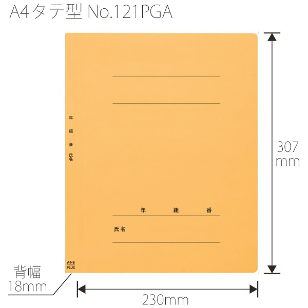 プラスPLUS年組氏名PPフラットファイルA4SYLNO.121PGA
