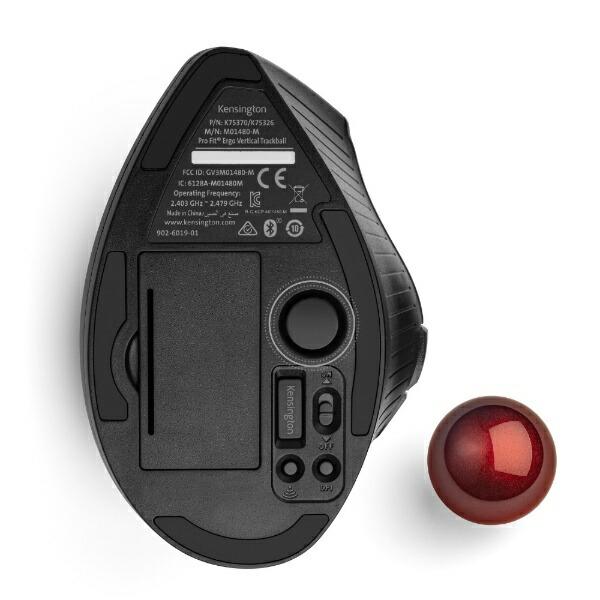 ケンジントンKensingtonK75370JPマウストラックボールProFitErgoVertical[光学式/9ボタン/Bluetooth・USB/無線(ワイヤレス)]