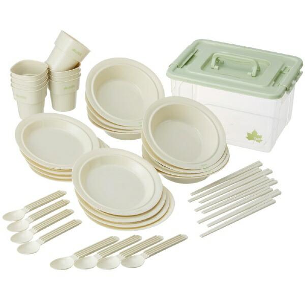 ロゴスLOGOS箸付き食器セットBOX(8人用)81285029