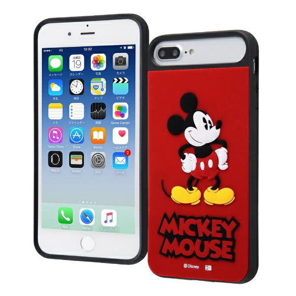 イングレムIngremiPhone8Plus/7Plus/6sPlus/6Plus/ディズニーキャラクター/耐衝撃ケースキャトルシリコン/『ミッキーマウス』_1『ミッキーマウス』_1IQ-DP76PSB/MK1