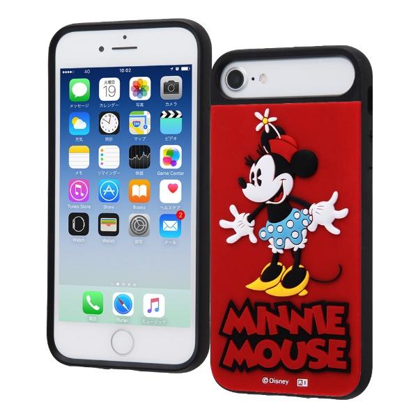 イングレムIngremiPhoneSE(第2世代)4.7インチ/iPhone8/7/6s/6/ディズニーキャラクター/耐衝撃ケースキャトルシリコン/『ミニーマウス』_1『ミニーマウス』_1IQ-DP76SB/MN1