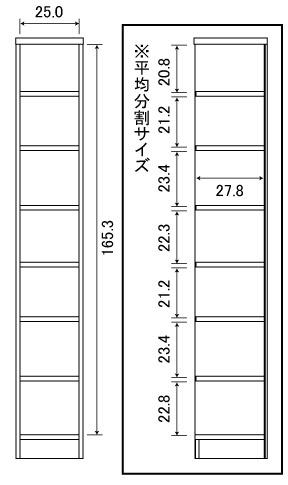 大洋TAIYOShelfit(シェルフィット)日本製ラック本棚(幅30x高さ180cm)ホワイトカラーラックNC1830WH