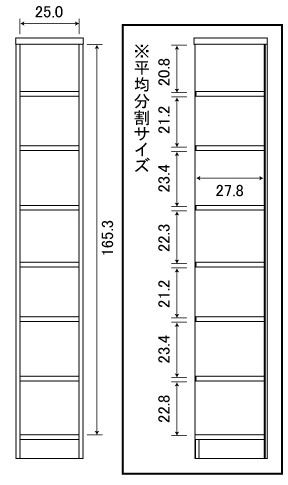 大洋TAIYOShelfit(シェルフィット)日本製ラック本棚(幅30x高さ180cm)ライトナチュラルカラーラックNC1830LN