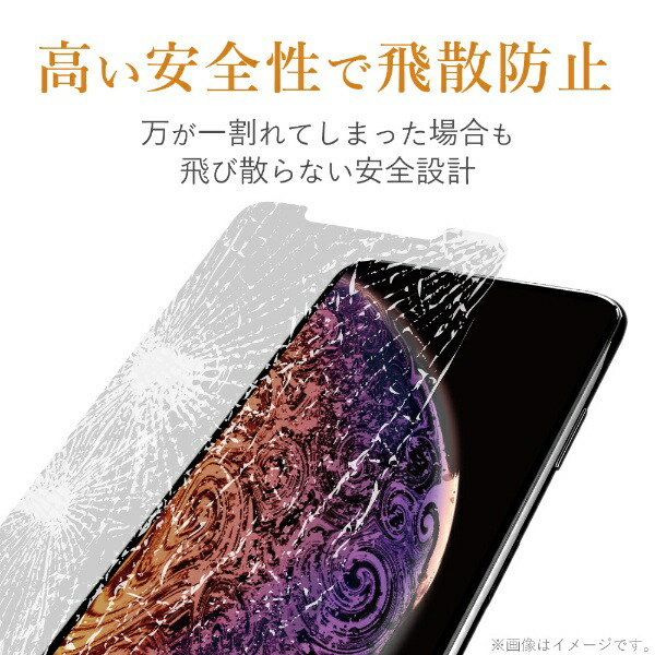 エレコムELECOMiPhoneSE(第2世代)4.7インチ対応ガラスフィルム3次強化ブルーライトカットPM-A19AFLGTBL