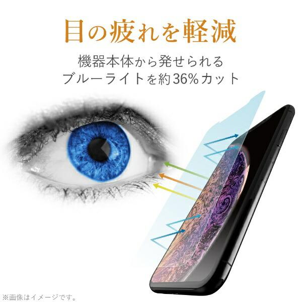 エレコムELECOMiPhoneSE(第2世代)4.7インチ対応フルカバーフィルム衝撃吸収透明高光沢ブルーライトカットPM-A19AFLPBLGR