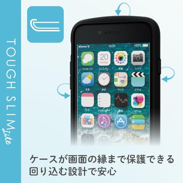 エレコムELECOMiPhoneSE(第2世代)4.7インチ対応TOUGHSLIMLITEフレームカラーリング付ブラックPM-A19ATSLFCRBK
