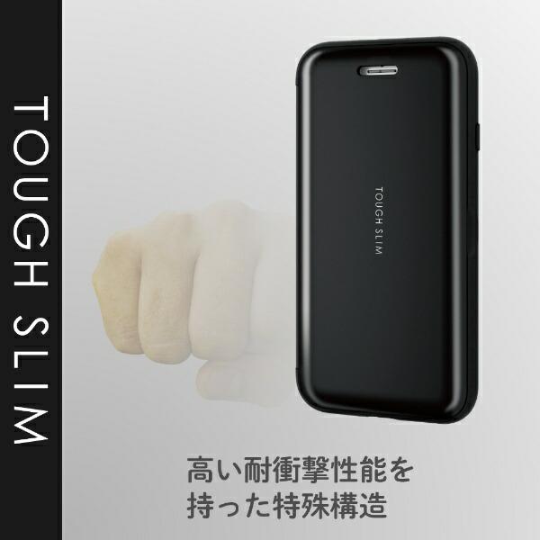 エレコムELECOMiPhoneSE(第2世代)4.7インチ対応TOUGHSLIMシェルフラップブラックPM-A19ATSSBK