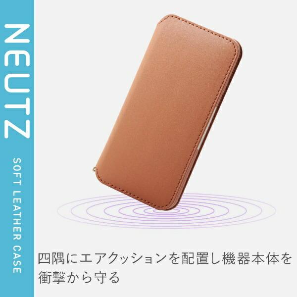 エレコムELECOMiPhoneSE(第2世代)4.7インチ対応ソフトレザーケース磁石付ブラウンPM-A19APLFY2BR
