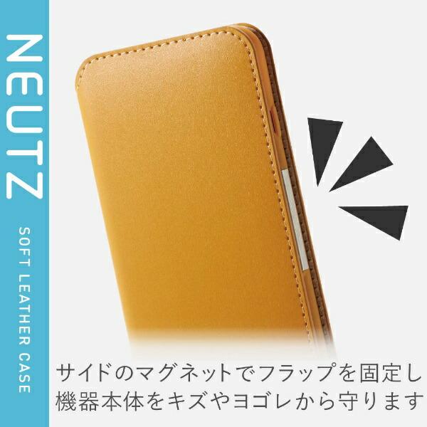エレコムELECOMiPhoneSE(第2世代)4.7インチ対応ソフトレザーケース磁石付キャメルPM-A19APLFY2CL