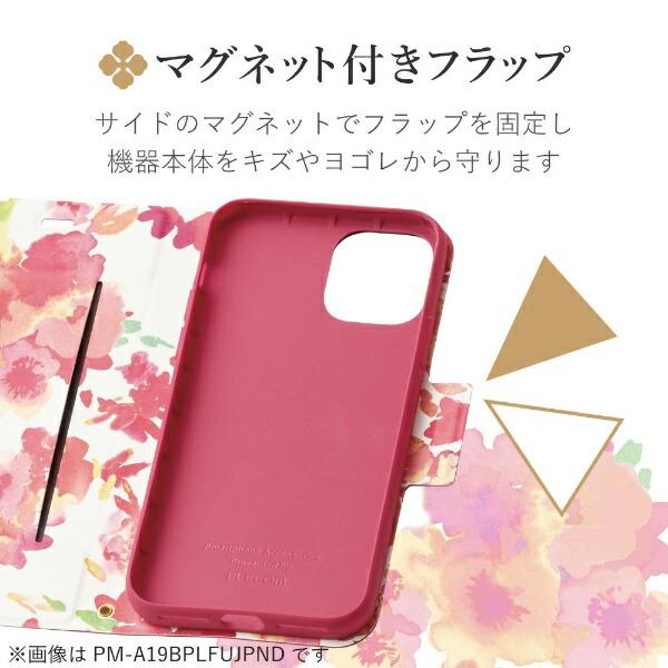 エレコムELECOMiPhoneSE(第2世代)4.7インチ対応ソフトレザーケース薄型女子向磁石付ディープピンクPM-A19APLFUJPND