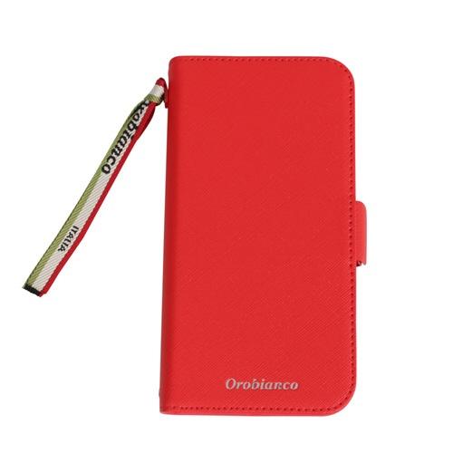 イングリウッドinglewoodiPhone11Orobiancoサフィアーノ調PULeatherBookTypeCaseREDorobiancoIP11-ORB03