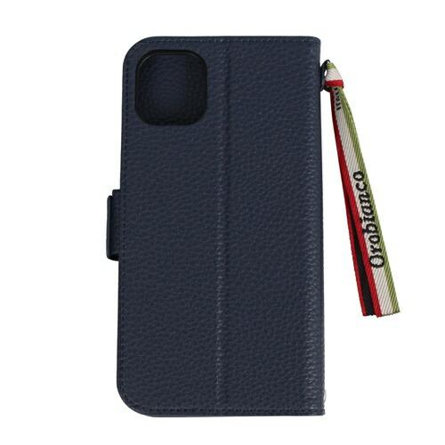 イングリウッドinglewoodiPhone11OrobiancoシュリンクPULeatherBookTypeCaseNAVYorobiancoIP11-ORB06