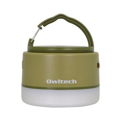 OWLTECHオウルテックLEDランタンモバイルバッテリー付き6700mAhLEDランタンとして使いながらスマートフォンの充電もできる。カーキOWL-LPB6701LA-KH[LED/充電式/防水]