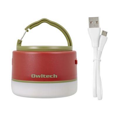 OWLTECHオウルテックLEDランタンモバイルバッテリー付き6700mAhLEDランタンとして使いながらスマートフォンの充電もできる。レッドOWL-LPB6701LA-RE[LED/充電式/防水]