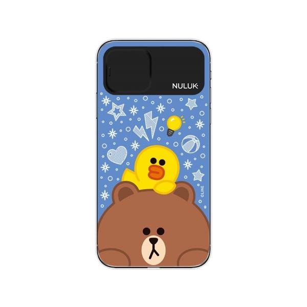 ROAロアiPhone11LIGHTUPCASEスニークピークブラウン&サリーLINEFRIENDSKCE-CSA057