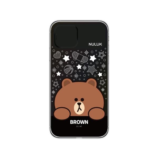ROAロアiPhone11LIGHTUPCASEスターブラウンLINEFRIENDSKCE-CSA089