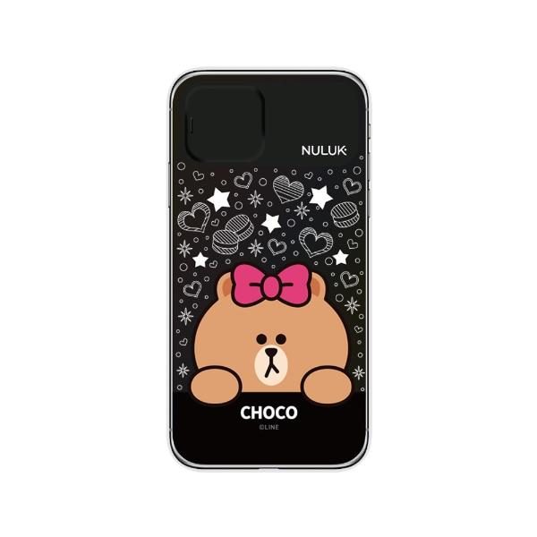 ROAロアiPhone11LIGHTUPCASEスターチョコLINEFRIENDSKCE-CSA091