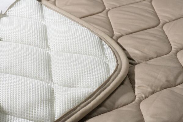 フランスベッドFRANCEBED【ベッドパッド】羊毛メッシュパッド(ワイドダブルロングサイズ/ベージュ)フランスベッド
