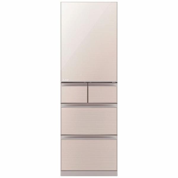 三菱MitsubishiElectricMR-B46F-F冷蔵庫スマート大容量クリスタルフローラル[5ドア/右開きタイプ/455L][冷蔵庫大型]《基本設置料金セット》
