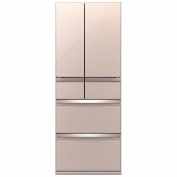 三菱MitsubishiElectric《基本設置料金セット》冷蔵庫スマート大容量クリスタルフローラルMR-WX47LF-F[6ドア/観音開きタイプ/470L][冷蔵庫大型]【zero_emi】