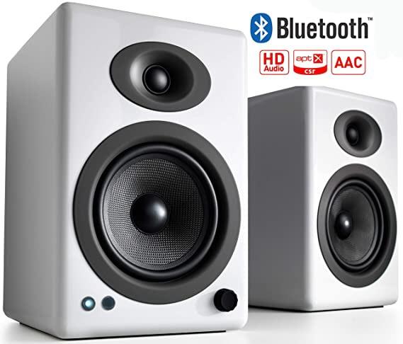 AudioengineオーディオエンジンA5+ワイヤレススピーカーシステム(ペア)ハイグロス・ホワイトペイントA5+BTW[Bluetooth対応]
