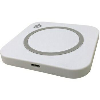 ウイルコムWILLCOMワイヤレス充電器Type-Cケーブル一体型ACアダプタ付属ホワイトWC003WH