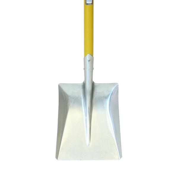 浅香工業銀象D柄アルミスコップ角形イエロー銀象