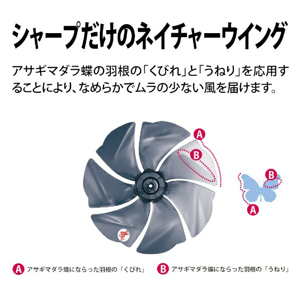 シャープSHARPPJ-L3DS-W【DCモータ搭載】リモコン付リビング扇風機ホワイト系[DCモーター搭載/リモコン付き]