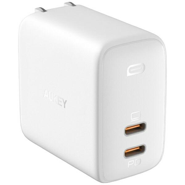 AUKEYオーキーAUKEY(オーキー)USB充電器OmniaDuo65W[USB-C2ポート]ホワイトAUKEY(オーキー)WhitePA-B4-WH[USBPowerDelivery対応]