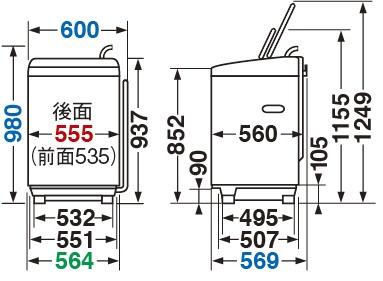 東芝TOSHIBA全自動洗濯機ZABOON(ザブーン)グランホワイトAW-7D9-W[洗濯7.0kg/上開き]