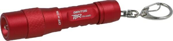 ジェントスGENTOSTTR-04RDLED/電池式/防塵・防滴/キーチェーン搭載レッドTTR-04RD[LED/単4乾電池×1/防水]
