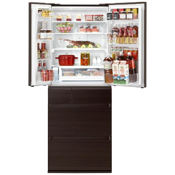 パナソニックPanasonic冷蔵庫HPXタイプアルベロダークブラウンNR-F606HPX-T[6ドア/観音開きタイプ/600L]《基本設置料金セット》
