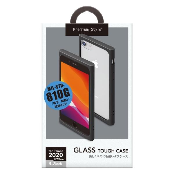 PGAiPhoneSE(第2世代)ガラスタフケースブラックPG-20MGT01BK